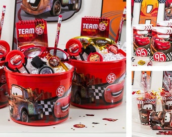 Cars party favors. Birthday party cup, cars cups
