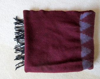 Beautiful Women's Wool Long Fringed Scarf / Wrap / Shawl / Corrieri Ido / Made in Italy