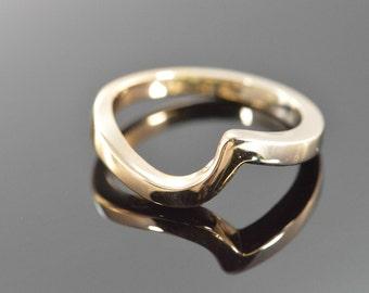 14K Chevron Twist Ring - Size 6 / White Gold - EL10552