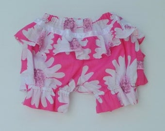 Baby girls bloomers,  Coolykids daisy bloomers, White and pink bloomers, sizes 3, 6 months