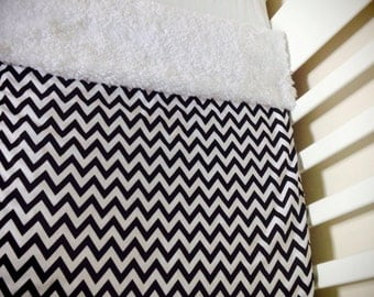 Mono Chevrons blanket by Calico Clouds