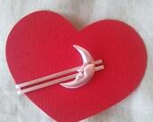 Moon tiepin, a tie clasp, silver Tie Clip Bar Pin, Tie bar, Tie clip, Tiepin, clip Tie bar,
