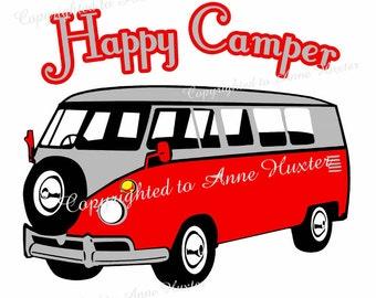 Happy Camper Vinyl Template