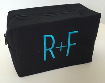 Monogrammed R+F (Rodan and Fields) Cosmetic Makeup Bag - LARGE