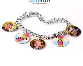 Unisub Charm Bracelet w/ 5 Aluminum Charms personalized