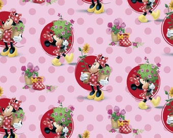 Springs Creative - Minnie - Smell the Flowers Cotton Fabric