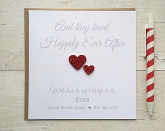 Personalised Husband to be,  Wife to be, Bride, Groom Wedding Day Card (LB007)
