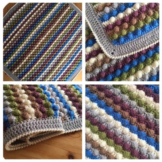 Manta de beb hecha a mano mantas hechas a por for Mantas de lana hechas a mano