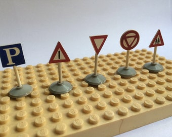 Vintage Lego Systems Road Marking / Street Signs X5