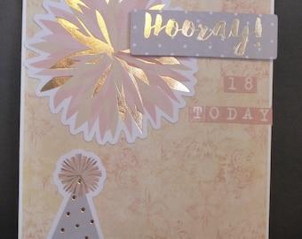 Hooray 18th Card 1509