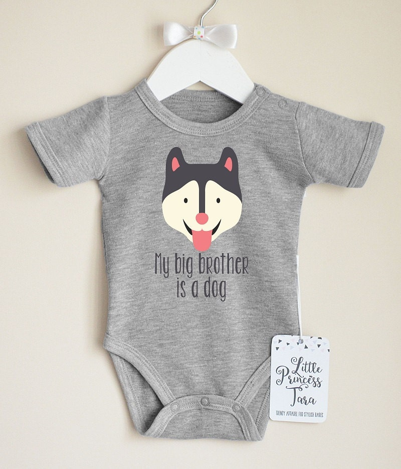 Cute Husky Baby Bodysuit Dog Baby Clothes By