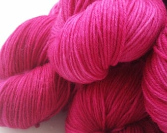 Hand dyed merino sock yarn - Bubblegum