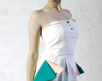 designer corset dress made of organic cotton