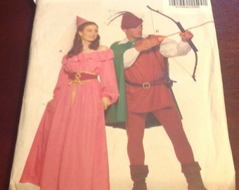 Butterick 5749 Sewing Pattern Robin Hood Rennaisance Peasant Knight Medieval Cosplay Halloween Size L XL Theatre Play Reenactment Uncut FF