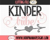 Kinder Tribe SVG DFX EPS and png Files for Cutting Machines Cameo or Cricut Kindergarten svg