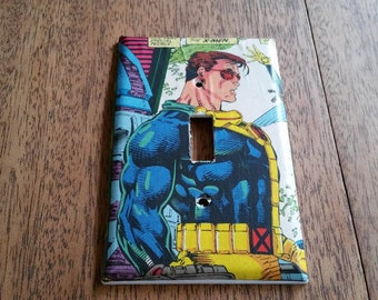 One of a kind Light switch plate Comic book Xmen