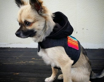 Mexican Hoodie Dog Harness, Dog Vest, Pet Accessories, Chihuahua Harness