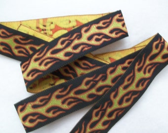 "Flame Woven Ribbon 1"" Wide"