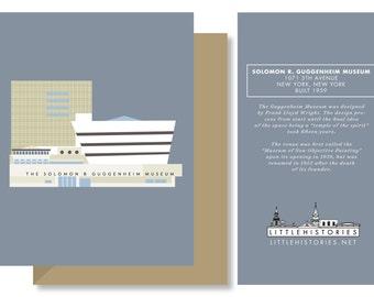 New York City Greeting Card, Guggenheim Museum of Art, Architecture New York