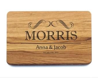 Bridal Shower Gift Cutting Board Monogram. Wedding Gift for couple, Bridal Shower Gift, Personalized Wedding Gift, Wedding Gift Present