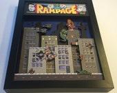 Rampage! Arcade Game 3D Shadow Box