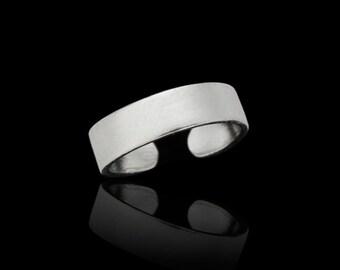 Sterling Silver Toe Ring - Plain Flat Toe Ring