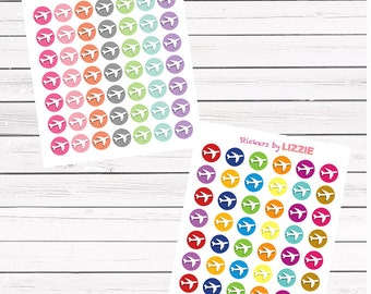 Airplane icon || Kiss-cut planner stickers