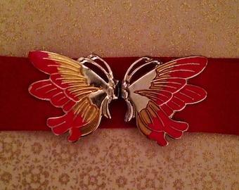 Vintage '80s Butterfly Clip Belt