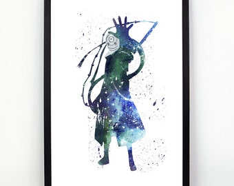 Obito Uchiha, Naruto Anime, Manga Alternative print, Watercolor alternative poster, Watercolor Art, Nursery Print, Nursery Wall Art,
