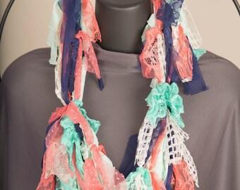 Tribal sunrise scrappy scarf