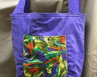 PUPLE TOTE BAG