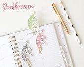 1 Pretty Little Unicorn Paper Clip   Planner Accessories   Unicorn Stationery   Laminated Planner Clips