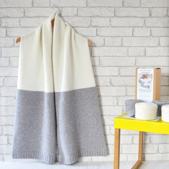 Scarf Knitting Kits Uk : Oversized scarf knitting kitknitting kitoversize