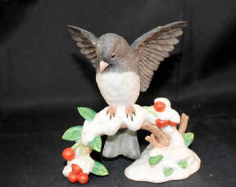 Lenox Dark-Eyed Junco Garden Birds Collection Issued 1991 With Box Mother's Day