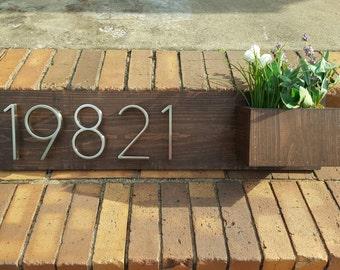 Address Planter Plaque, House Number Planter, Address Planter, Address Plaque, House Number Planter, Address Sign, Horizontal Address Sign