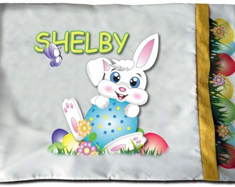 NEW Personalized Easter Bunny Pillowcase - Toddler, Standard Kids, Girls