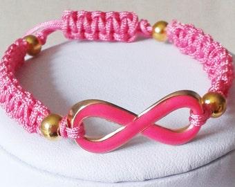 Hot Pink Infinity Friendship Bracelet