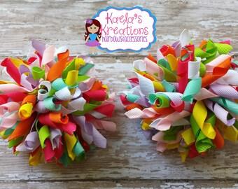 Colorful Corker Hair Bows,Korker Hair Bows, Corker Hair Bows,Colorful Corker Bows, Colorful Hair Bows.