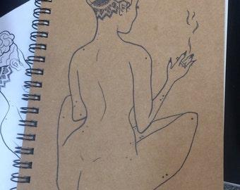 Smoking girl sketchbook