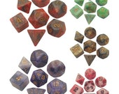 Polyhedral Dice Set Combo Attack Mix 16mm Dungeons and Dragons Dnd Pathfinder d20 RPG Role Playing Games