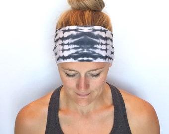 Yoga Headband - Running Headband - Workout Headband - Fitness Headband  - Smoke