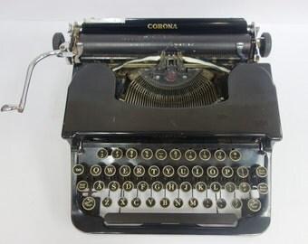 Vintage Corona Sterling Typewriter