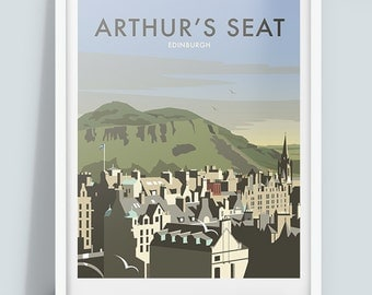 Arthur's Seat, Edinburgh Travel Poster