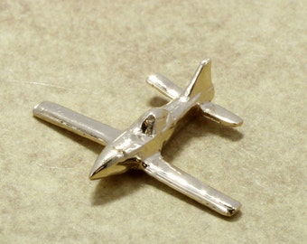 Airplane Jewelry , Airplane Tie Tack, Air Tractor Tie Tack or pin in 14kt gold