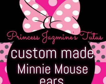 CUSTOM MADE Minnie Mouse ears