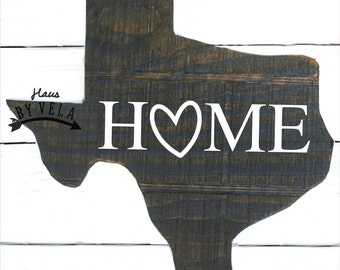 Texas Shaped Home Sign