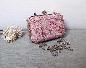 Kimono Silk Purse / Box Clutch / Minaudiere Hand Made From Vintage Japanese Kimono Silk