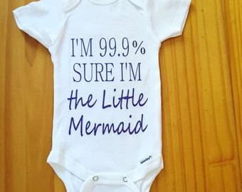 """Disney's """"The Little Mermaid"""" inspired Ariel Onesie For Baby Girl"""