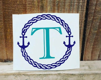 Rope Letter Monogram Decal