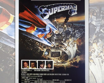 Original Movie Poster- Superman II The Quest for Peace -Size: 100x140 CM - Christopher Reeve